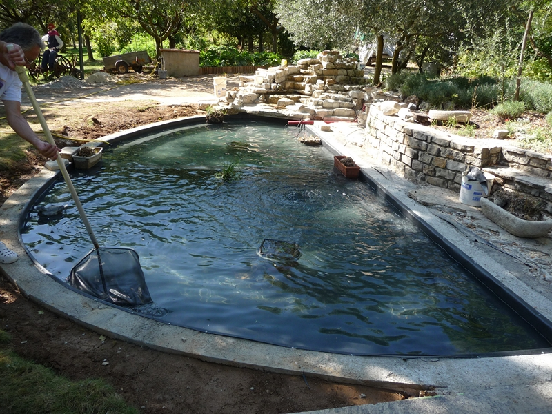 R alisation d 39 un bassin poisson sur st maximin en 2009 for Construction piscine aix en provence